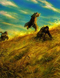 Gimli & Legolas and Aragorn