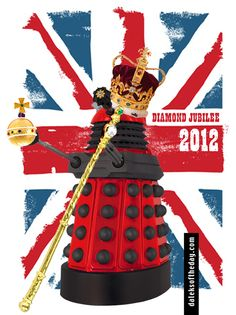 """JUBILATE! JUBILATE!"" cries the Diamond Jubilee Dalek."