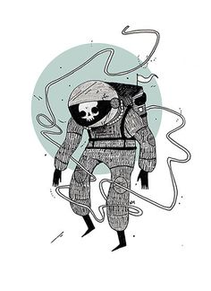 Dead Space by HeatherMahlerArt on Etsy, $20.00