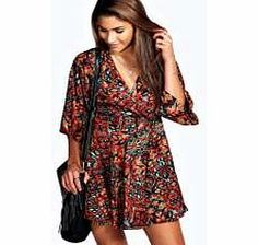 boohoo Jenna Woven Kimono Sleeve Wrap Dress - multi Nineties revival reigns supreme with the spaghetti-strap slip dress stealing the what's hot top spot. Feminine, floaty fabrics and floral prints are our fave, with midi lengths a must-have. Go boho in http://www.comparestoreprices.co.uk/dresses/boohoo-jenna-woven-kimono-sleeve-wrap-dress--multi.asp