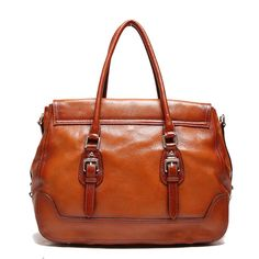 e1358429fa SAIERLONG Women s European And American Style Red brown First Layer Of  Leather Top-handle Tote Shoulder Messenger Bag Cross Body Purse Vintage  Handbag