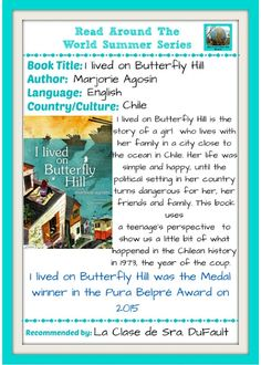 La Clase de Sra. DuFault: Read Around the World Summer Series: I lived on Butterfly Hill