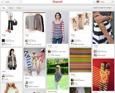 1. Pinterest search for STRIPES: clothes, art, design