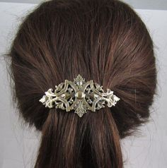 Vintage Haarclip Haarklammer Haarspange Haarschmuck Blätter Braut Blatt Gold
