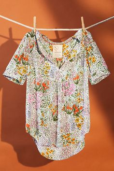 Shop Anthropologie's curated collection of Tops & Tees, brimming with new arrivals & timeless classics. Textile Patterns, Print Patterns, Style Me, Your Style, Summer Prints, Ditsy Floral, Mixing Prints, Modest Fashion, Fashion Prints