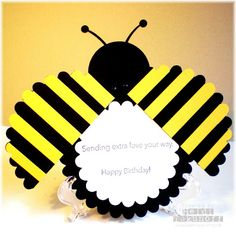 Two Happy Stampers: Birthday Bumblebee