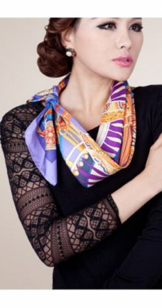 Silk scarf - how to wear