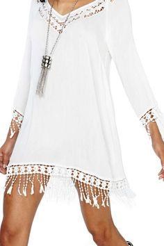 #white #dress #swag