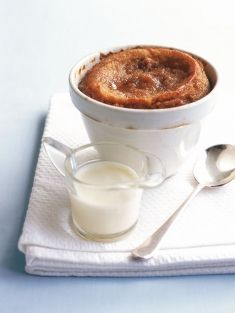 Caramel self-saucing pudding- now all I need is some adorable oven friendly cups