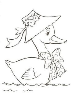 Duck color page, animal coloring pages, color plate, coloring sheet,printable coloring picture is part of Duck drawing - Bird Embroidery, Embroidery Patterns Free, Hand Embroidery Designs, Bird Drawings, Cartoon Drawings, Easy Drawings, Animal Coloring Pages, Coloring Books, Fabric Painting