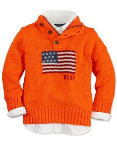 Ralph Lauren Toddler/Boys Flag Sweater - Macy's