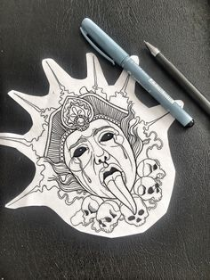 Head Tattoos, Body Art Tattoos, Sleeve Tattoos, Dibujos Tattoo, Desenho Tattoo, Tattoo Sketches, Tattoo Drawings, Anker Tattoo, Skeleton Drawings