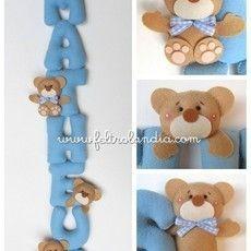 Enfeite de Porta Maternidade - Móbile Urso