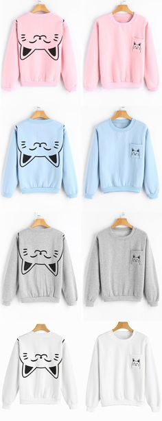 Up to 68% OFF! Loose Cute Cat Sweatshirt With Pocket. #Zaful#zafulsweater #zafuloutfits #fashion #style #tops #outfits #blouses #sweatshirts #hoodies #hoodiesoutfit #sweatshirtsoutfit #cardigan #sweater#cutesweatshirts #floralhoodie #croppedhoodies #pearlsweatshirt #fall #winter #winteroutfits #winterfashion #fallfashion #falloutfits #christmas #thanksgiving #gift #christmashoodies #blackfriday #cybermonday @zaful Extra 10% OFF Code:ZF2017