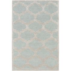 Found it at Wayfair - Arise Hadley Hand-Tufted Light Blue Area Rug