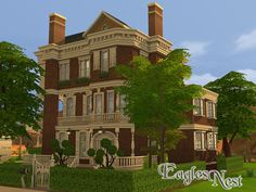 The Eagles Nest house by fredbrenny at TSR via Sims 4 Updates