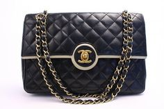 RARE Vintage CHANEL 2.55 Classic Flap Bag at Rice and Beans Vintage