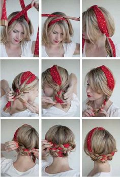 Scarf hairstyles for