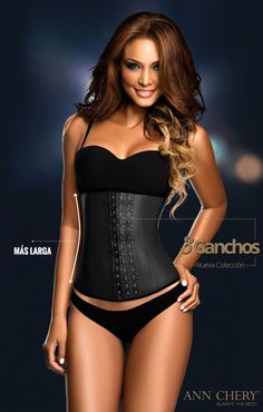 8f86b26fd2f The Ann Chery 2021 3 Hook Classic Black Latex sculpts and smoothes your  waist instantly. Shape your body with one of a kind waist trainer.