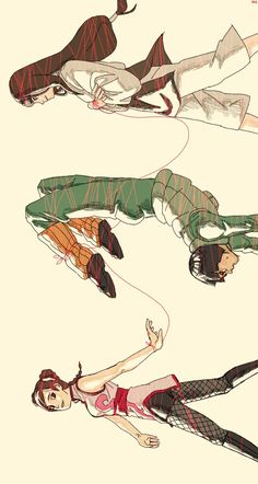 Tenten, Lee, Neji and red thread [Naruto]