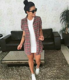 """Looks With White Sneakers """" 15 Amazing Ideas For Every Hour! Simple Outfits, Trendy Outfits, Cool Outfits, Girl Fashion, Fashion Looks, Fashion Outfits, Womens Fashion, All Star Outfit, Outfit Vestidos"""