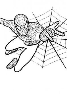 amazing spiderman coloring pages 23