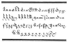 martin billingsley's court hand (as scanned and reconstructed by cambridge university's english renaissance electronic service)