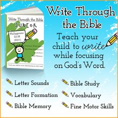Are you looking for a curriculum for you child that will teach them to write while focusing on God's word?