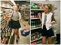 Mia Maguire - Nasty Dress Mesh Design Jacket, American Apparel Tennis Skirt - Lost in translation