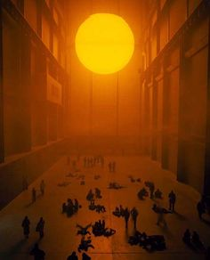 The weather project 2003 Turbine Hall, Tate Modern, London, UK, 2003 Olafur Eliasson Turbine Hall, Studio Olafur Eliasson, Art Et Architecture, Instalation Art, Land Art, Oeuvre D'art, Art Blog, Art Photography, Illustrations