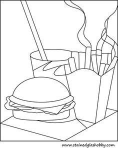 Burger & Fries pattern