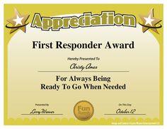 First Responder Award