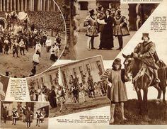 """Palio di San Giorgio, paginone fotografico da """"Pro Familia"""" (1933)."""