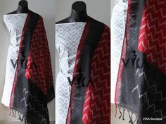 Ikat Dupatta with top Salwar Pattern, Nighties, Mix N Match, Ikat, Designer Dresses, Om, Outfit Ideas, Jackets, Outfits