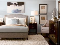 Calming Colors In This Thomasville Bedroom Trim Nails Furniture Home