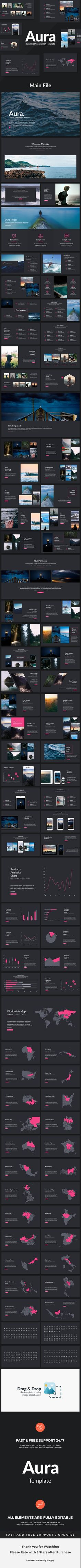 Aura  Creative Keynote Template — Keynote KEY #free icons #easy • Download ➝ https://graphicriver.net/item/aura-creative-keynote-template/19103352?ref=pxcr