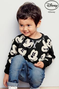 Buy All Over Print Mickey Mouse Crew Top (3mths-6yrs) online today at Next: Croatia