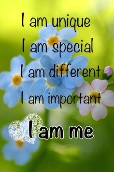 I am unique, I am special, I am looking for a man that's unique and special too! and who appreciates me!!!!    :)