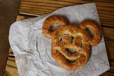 disney world mickey mouse soft pretzel