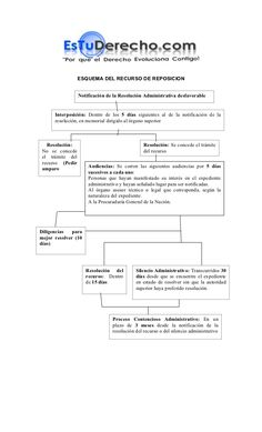 ESQUEMA DEL RECURSO DE REPOSICION                  Notificación de la Resolución Administrativa desfavorable      Interpos... Law, Study, Learning, Law School, Nursing Assistant, Study Tips, Studio, Studying, Teaching