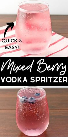 Easy mixed berry vodka spritzer recipe this easy vodka drink comes together in seconds with a refreshing sparkling berry flavor drinks alcohol berries cocktails weinregale flaschenregale Alcoholic Drinks Vodka, Keto Cocktails, Refreshing Cocktails, Raspberry Vodka Drinks, Cocktail Recipes With Vodka, Low Calorie Vodka Drinks, Simple Vodka Cocktails, Cherry Vodka, Alcholic Drinks