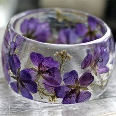 Baby Breath Bangle Purple by Lissa Liggett Purple Love, All Things Purple, Purple Rain, Shades Of Purple, Color Violeta, Winter Typ, Sweet Violets, Purple Jewelry, Purple Fashion
