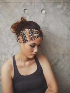 Apsara Turban Twist Headband  olive green gold by RumRaisins, $12.95