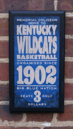 Kentucky Wildcats Vintage Style Wall Plaque by CrestField on Etsy, $28.00