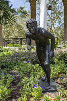 LOS ANGELES-The Getty Villa-This statue is an exact copy of the originals found at the Villa of the Papyri in Herculaneum.