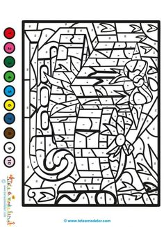 Christmas Color By Number, Christmas Colors, Winter Christmas, Color By Numbers, Paint By Number, Adult Coloring, Coloring Books, Clipart Noel, Color By Number Printable