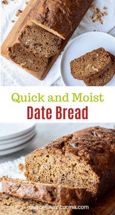 Date bread is an easy and moist quick bread brimming with dates and walnuts. Perfect for breakfast, dessert or afternoon tea.  #quickbreads #dates #quickbreadrecipes #breakfastrecipes #walnuts Date Bread, Raisin Recipes, My Refrigerator, Quick Bread Recipes, Little Kitchen, Afternoon Tea, Food Inspiration, Banana Bread, Breakfast Recipes