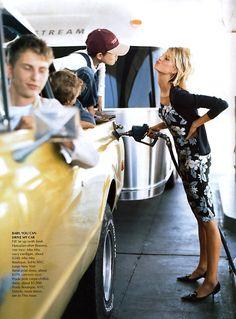 Karolina Kurkova by Arthur Elgort for US Vogue June 2002