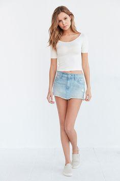 BDG Thalia Denim Micro Mini Skirt