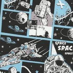 Astronaut Comic Fabric